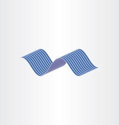 Blue water wave flow vector