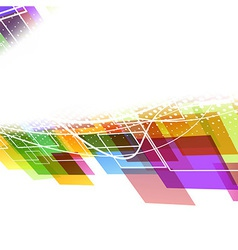 Bright colorful abstract wave template vector image