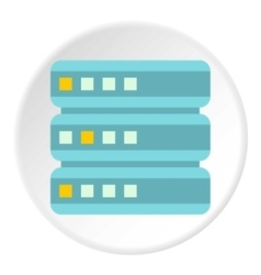 Cell for data storage icon flat style vector