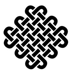 celtic style sqaure based on eternity knot pattern vector image vector image