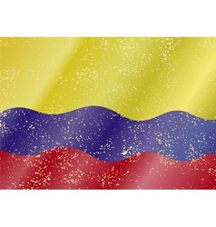 Colombian grunge flag vector image vector image