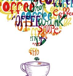 Cute vintage coffee social concept vector image