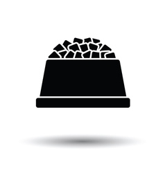 Dog food bowl icon vector