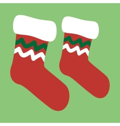 drawing of a christmas socks vector image