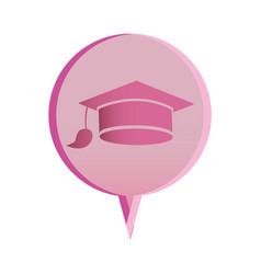 flat graduation cap icon education vector image