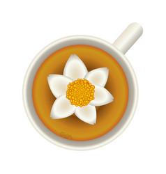 Flower soup food vector
