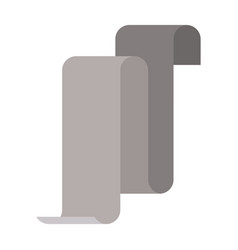 Gray silhouette of continuously long sheet vector