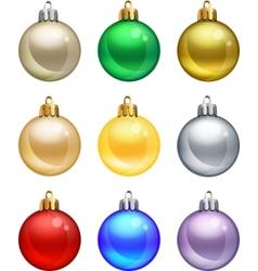 isolated christmas balls set vector image vector image