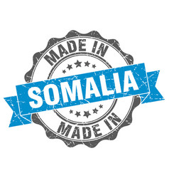 Made in somalia round seal vector