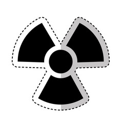 Nuclear plant isolated icon vector
