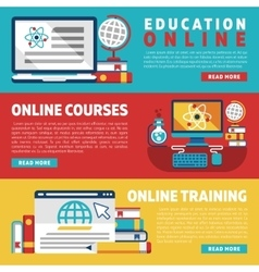 Online education training courses or webinars vector image