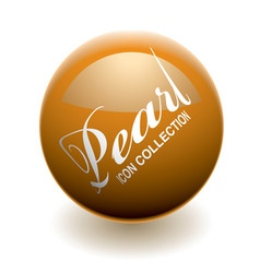 orange pearl or marble with light reflection and s vector image vector image