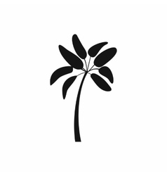 Palm tree icon simple style vector image vector image