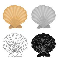 prehistoric seashell icon in cartoon style vector image