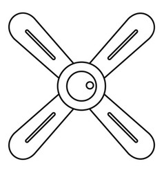 Propeller icon outline style vector