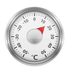 Round Thermometer vector image