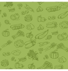 Seamless background pattern with vegetables vector image