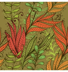 Seamless hand drawn vintage background vector image vector image