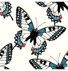 Seamless pattern with decorative machaon vector image
