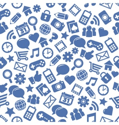Seamless Social Media Patterns vector image vector image