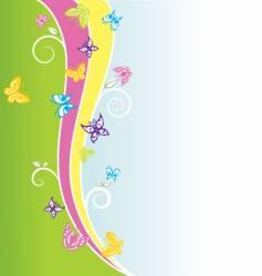 spring butterflies vector image
