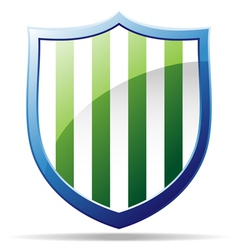striped badge vector image