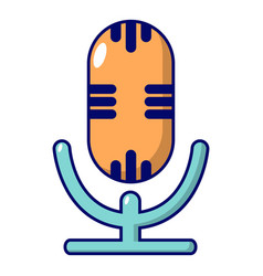 studio microphone icon cartoon style vector image