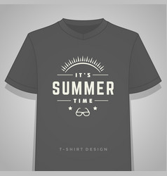 summer holidays typography tee shirt print vector image