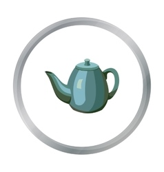 Teapot icon in cartoon style isolated on white vector image