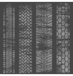 Tire tracks grunge gray vector