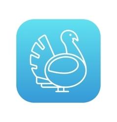 Turkey line icon vector image