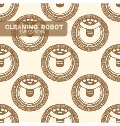 Vacuum cleaner Vintage style vector image