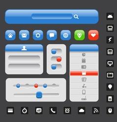 Web design elements template vector
