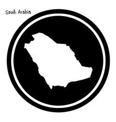 white map of saudi arabia on black vector image