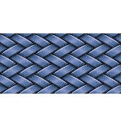 jeans weaving vector image