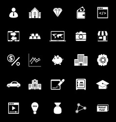 Passive income icons on black background vector