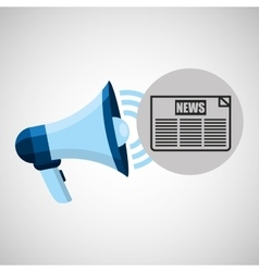 Megaphone concept news headline design vector