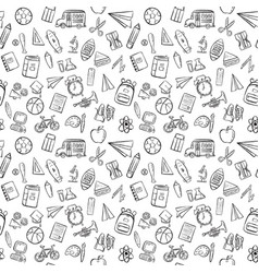 Back to school seamless pattern background set vector