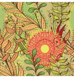 Elegant hand drawn autumn seamless pattern vector