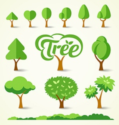 Trees collections design vector
