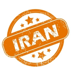 Iran grunge icon vector