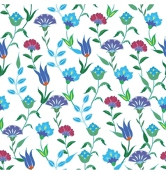 Colorful spring turkish flowers seamless vector