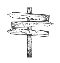 Wooden direction vector