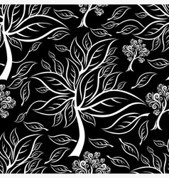 Seamless tree pattern 015 vector