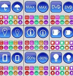 Umbrella Max DVD Checkpoint Information Cup Zero vector image