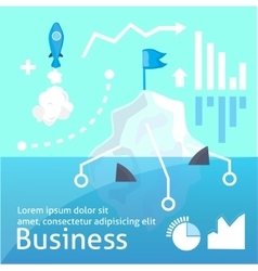 bussines  startap infographic vector image