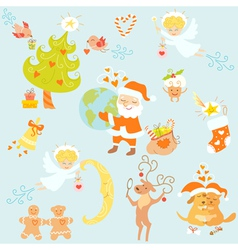 Love christmas set vector