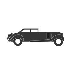 Retro car vehicle isolated flat icon vector