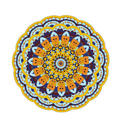 Abstract design element round mandala in vector