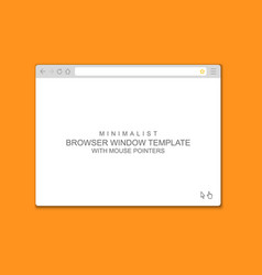 abstract flat design web browser window template vector image